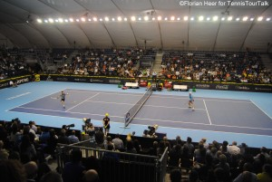 Great atmosphere on Centre Court on Saturday evening