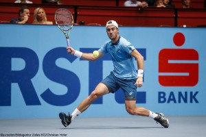 Steve Johnson on his way to his first career final