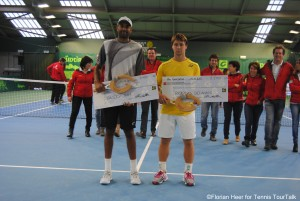 The finalists in Ortisei: Rajeev Ram and Ricardas Berankis