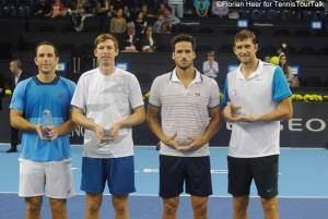 The doubles finalists in Valencia