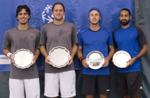 Doubles finalists (photo: Jacob Stuckey/Charlottesville Challenger)