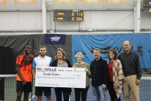 From left to right: Frances Tiafoe,Daniel Evans, Jenny Brock, Sarah Stowers, Jerry Vagnier, Beth Farrow and Adam Brock