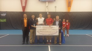 Singles ceremony with Henri Laaksonen and Taylor Fritz