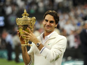 Roger Federer captured his seventh Wimbledon crown in 2012 (photo: Paul Zimmer/Mercedes Cup)