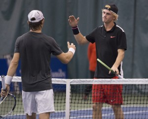 Tommy Paul defeated Dimitar Kutrovsky to reach his maiden Challenger final (photo: Jacob Stuckey/Charlottesville Challenger)