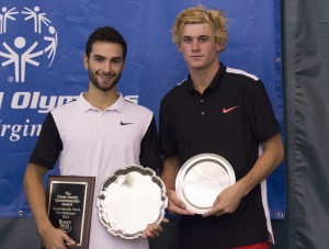 Noah Rubin and Tommy Paul (photo: Jacob Stuckey/Charlottesville Challenger)