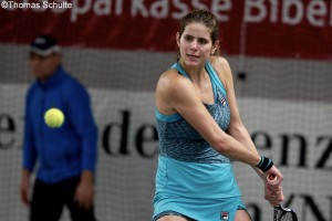 Julia Görges crashed out in the semis on Saturday