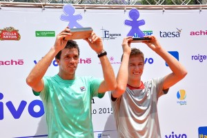 Sao Paulo's finalists: Carlos Berlocq and Kimmer Coppejans