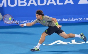 David Ferrer in Abu Dhabi 2013
