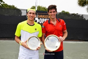 Federico Delbonis and Facundo Bagnis after the final in Sarasota