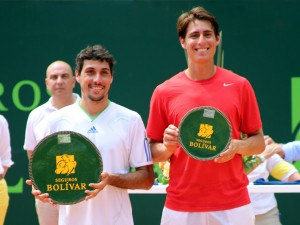 The finalists: Fernando Romboli and Giovanni Lapentti