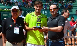 Guido Pella with his 7th ATP Challenger trophy
