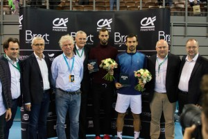 The finalists in Brest: Ivan Dodig and Benoit Paire