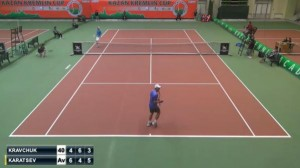 Karatsev converted his match point in the final