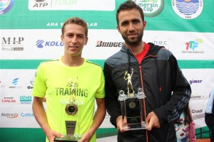 The finalists at the Mersin Cup: Kimmer Coppejans and Marsel Ilhan