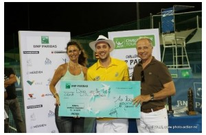 Steve Darcis captured his sixth ATP Challenger title in Nouméa (photo: Ligue Calédonienne de Tennis)