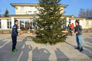 Roberto Bautista-Agut and Fabio Fognini in sunny but Christmassy Munich