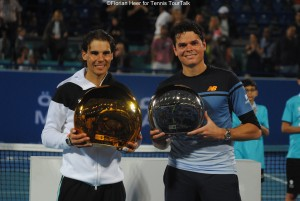 The finalists in Abu Dhabi 2016: Nadal and Raonic