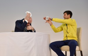 Card tricks with Novak Djokovic (photo: QTF)