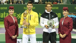 Novak Djokovic and Rafael Nadal (photo: QTF)