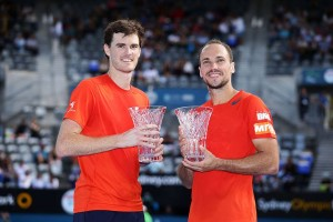 Doubles champions: Jamie Murray and Bruno Soares (photo: Apia International Sydney)