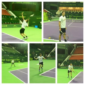 Pablo Carreno-Busta with first practice sessions in Doha on Saturday (photo: Equelite JCF)