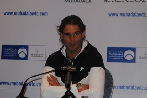 Rafael Nadal in the final press conference in Abu Dhabi