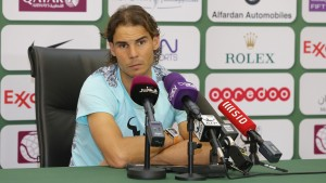 Rafael Nadal in the press conference (photo: QTF)