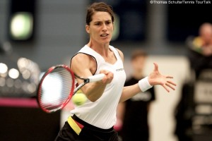 Andrea Petkovic lost the opening rubber for Germany