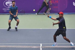 Bhupathi and Bhambri at the Delhi Open