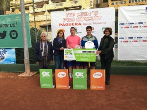 Doubles champions: Brkic and Majchrzak (photo: Tennis Academy Mallorca)