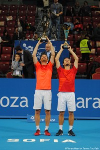 Sofia Open's doubles champions: Wesley Koolhof and Matwe Middelkoop