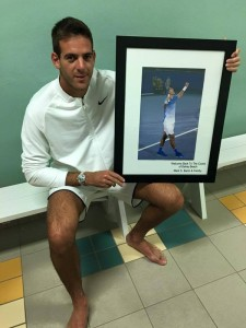 Del Potro received a special present from the tournament (source: twitter)
