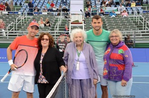 Grigor Dimitrov and Dudi Sela (photo: Delray Beach Open)