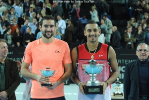 Finalists in Marseille: Marin Cilic and Nick Kyrgios