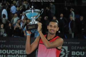 Nick Kyrgios lifted his maiden trophy on the ATP World Tour in Marseille this year