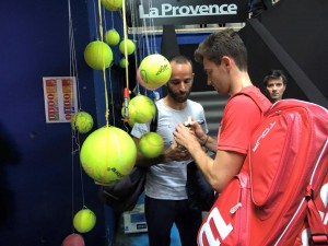 Quentin Halys after his match (photo: Open 13)