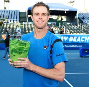 Sam Querrey lifting the trophy in Delray Beach
