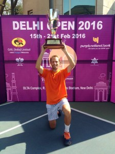 Stephane Robert lifting his first Challenger trophy in five years