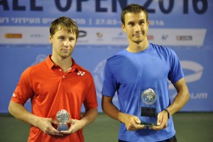 Runner-up Ricardas Berankis and champion Evgeny Donskoy (photo: Israel Open)
