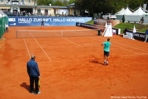 First practice sessions for the players in Munich (here: Mikhail Youzhny and Denis Istomin)