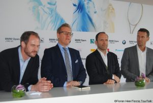 Organizers of the BMW Open: Peter Bosch, Gunther Gamst (Daikin), Stefan Kunowski, Patrik Kühnen (from left)
