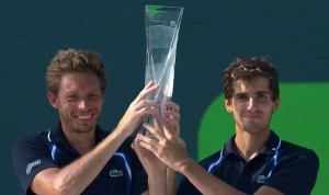 Pierre-Hugues Herbert and Nicolas Mahut (photo: Miami Open)