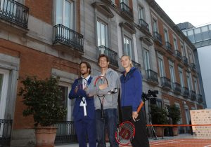 Feliciano López, Andy Murray and Petra Kvitova (photo: A. Martinez/MMO)