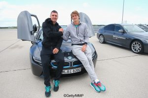 Alexander and Mischa Zverev at BMW Driving Academy Maisach