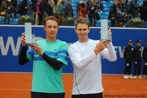John Peers and Henri Kontinen with their second team title
