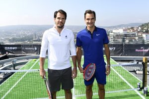 Tommy Haas and Roger Federer(Photo: Peter Staples/ATP World Tour/Getty Images)