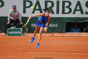 Caroline Garcia in Paris last week
