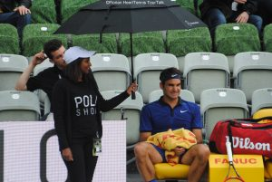 Not the best weather for playing tennis: Roger Federer