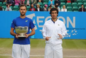 Steve Johnson and Pablo Cuevas
